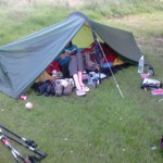 Camp set up on Day 2
